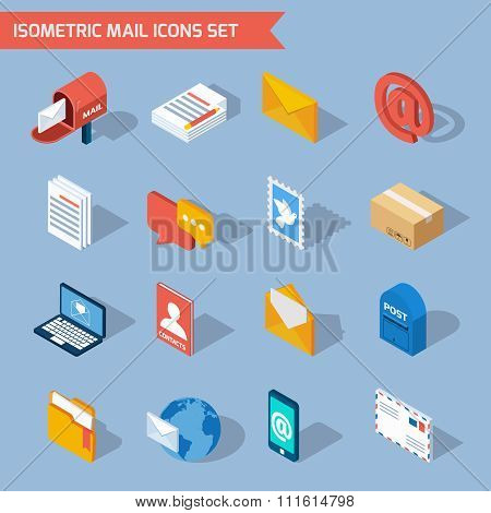 Isometric Mail Icons