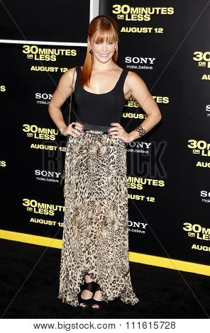 Amy Paffrath at the Los Angeles premiere of '30 Minutes Or Less' held at the Grauman's Chinese Theatre in Hollywood, USA on August 8, 2011.