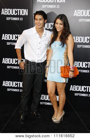 BooBoo Stewart and Fivel Stewart at the Los Angeles premiere of 'Abduction' held at the Grauman's Chinese Theatre in Hollywood, USA on September 15, 2011.
