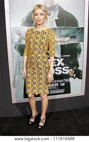 Christian Serratos at the Los Angeles premiere of 'Alex Cross' held at the ArcLight Cinemas in Los Angeles, USA on October 15, 2012.
