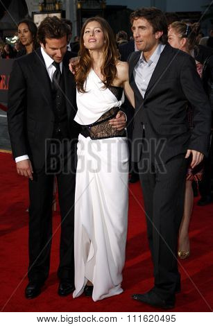 Jessica Biel, Bradley Cooper and Sharlto Copley at the World premiere of 'The A-Team' held at the Grauman's Chinese Theater in Hollywood, USA on June 3, 2010.