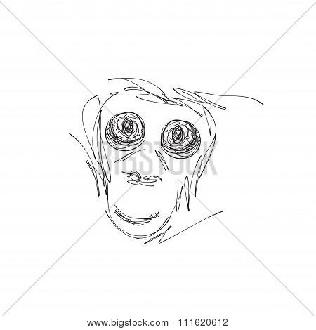 Hand drawn monster