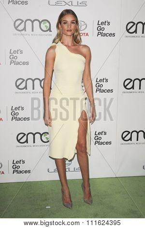 Rosie Huntington-Whiteley at the 2015 EMA Awards held at the Warner Bros. Studios in Burbank, USA on October 24, 2015.
