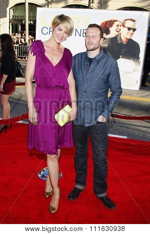 HOLLYWOOD, CALIFORNIA - June 27, 2011. Jenna Elfman and Bodhi Elfman at the World premiere of
