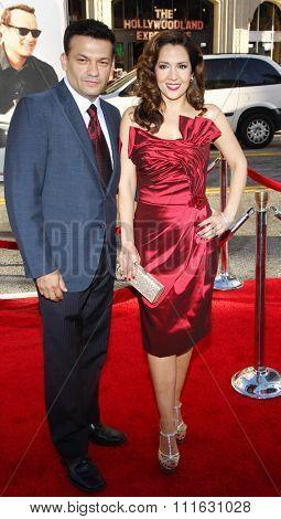 HOLLYWOOD, CALIFORNIA - June 27, 2011. Maria Canals-Barrera and David Barrera at the World premiere of