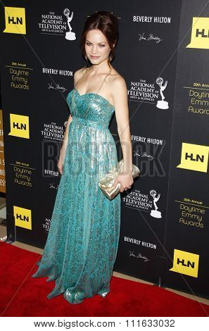 Rebecca Herbst at the 39th Annual Daytime Emmy Awards held at the Beverly Hilton Hotel in Beverly Hills, USA on June 23, 2012.