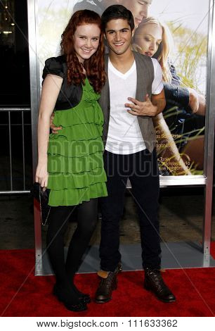 HOLLYWOOD, CALIFORNIA - February 1, 2010. Max Ehrich and Madisen Beaty at the World premiere of