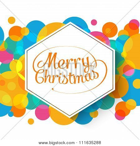 Merry Christmas multicolor background for your greetings card