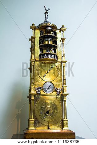 Monumental Carrilion Clock, British Museum. London. UK