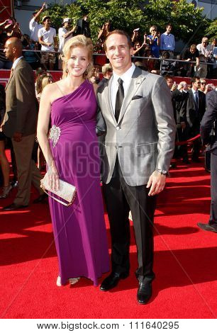 Drew Brees and Brittany Brees at the 2012 ESPY Awards held at the Nokia Theatre L.A. Live in Los Angeles, USA on July 11, 2012.