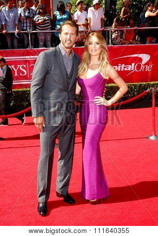 Mike Modano and Willa Ford at the 2012 ESPY Awards held at the Nokia Theatre L.A. Live in Los Angeles, USA on July 11, 2012.