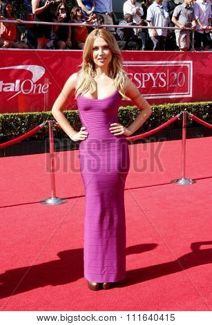Willa Ford at the 2012 ESPY Awards held at the Nokia Theatre L.A. Live in Los Angeles, USA on July 11, 2012.