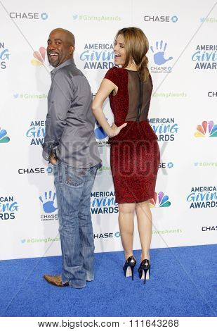 LOS ANGELES, CALIFORNIA - December 7, 2012. Darius Rucker and Maria Menounos at the 2nd Annual American Giving Awards held at the Pasadena Civic Auditorium in Los Angeles.