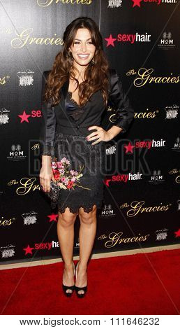 Sarah Shahi at the 37th Annual Gracie Awards Gala held at the Beverly Hilton Hotel in Los Angeles, California, United States on May 22, 2012.