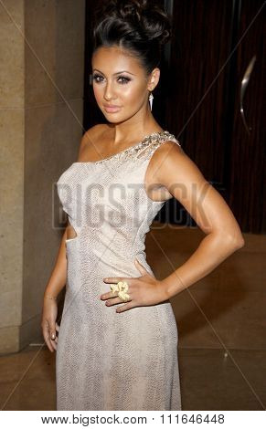 Francia Raisa at the 37th Annual Gracie Awards Gala held at the Beverly Hilton Hotel in Los Angeles, USA on May 23, 2012.