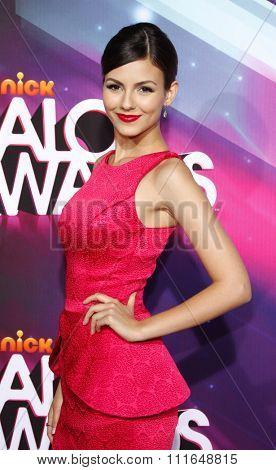 Victoria Justice at the 2012 TeenNick HALO Awards held at the Hollywood Palladium in Los Angeles, California, United States on November 17, 2012.