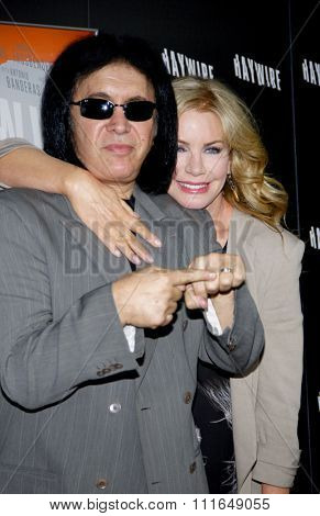 HOLLYWOOD, CALIFORNIA - January 5, 2012. Gene Simmons and Shannon Tweed at the Los Angeles premiere of