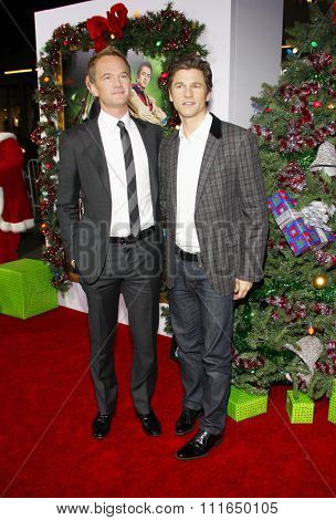 HOLLYWOOD, CALIFORNIA - November 2, 2011. Neil Patrick Harris and David Burtka at the Los Angeles premiere of