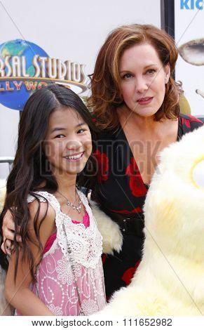 Tiffany Espensen and Elizabeth Perkins at the Los Angeles Premiere of