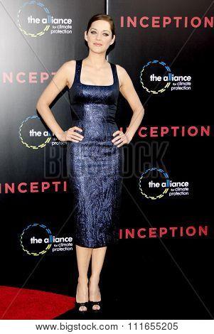 HOLLYWOOD, CALIFORNIA - July 13, 2010. Marion Cotillard at the Los Angeles premiere of
