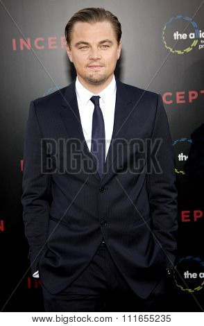 HOLLYWOOD, CALIFORNIA - July 13, 2010. Leonardo DiCaprio at the Los Angeles premiere of