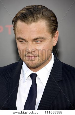 Leonardo DiCaprio at the Los Angeles Premiere of
