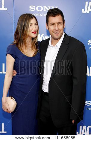 HOLLYWOOD, CALIFORNIA - November 6, 2011. Adam Sandler and Jackie Sandler at the World Premiere of