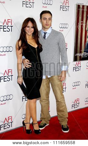 HOLLYWOOD, CALIFORNIA - November 3, 2011. Jennifer Love Hewitt and Jarod Einsohn at the AFI Fest 2011 Opening Night Gala World Premiere Of
