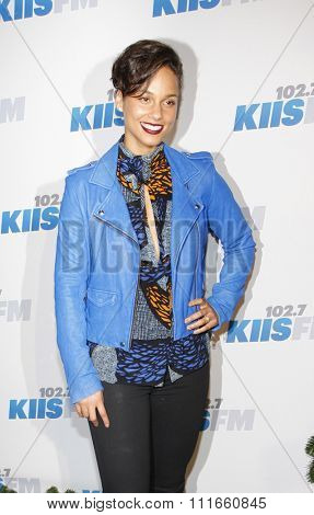 Alicia Keys at the KIIS FM's 2012 Jingle Ball held at the Nokia Theatre L.A. Live in Los Angeles, USA on December 3, 2012.