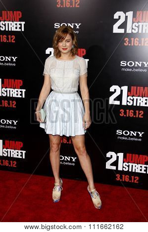 HOLLYWOOD, CALIFORNIA - March 13, 2012. Brie Larson at the Los Angeles premiere of