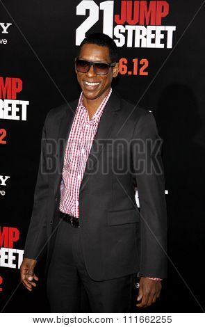HOLLYWOOD, CALIFORNIA - March 13, 2012. Orlando Jones at the Los Angeles premiere of