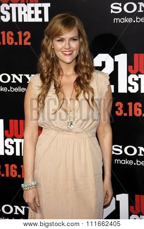 HOLLYWOOD, CALIFORNIA - March 13, 2012. Sara Rue at the Los Angeles premiere of