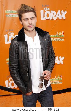 Zac Efron at the Los Angeles Premiere of