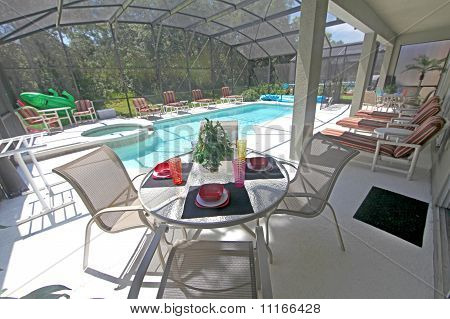 Lanai, Pool And Spa