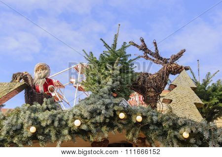 Santa and a Reindeer