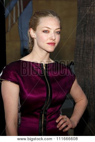 Amanda Seyfried at the Los Angeles Premiere of