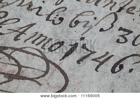 Handwriting eighteenth century