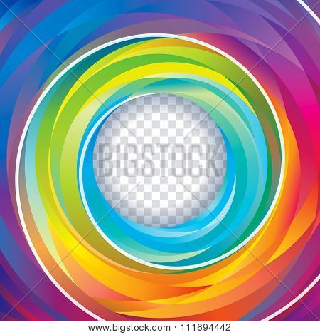 Colorful swirl circle background.