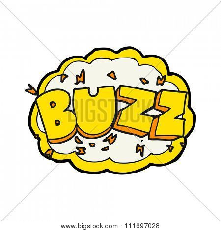 freehand drawn cartoon buzz symbol