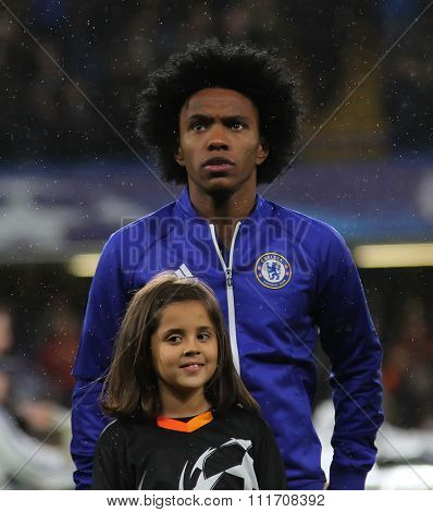 LONDON, ENGLAND - DECEMBER 09 2015:  during the Champions League Group G match between Chelsea FC and FC Porto at Stamford Bridge on December 9, 2015 in London, United Kingdom