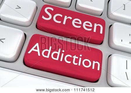 Screen Addiction Concept