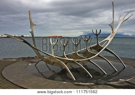 Solfar, Sun Voyager is huge steel sculpture of viking boat