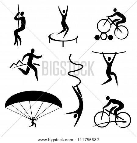 Outdoor Adventure Sport Icons