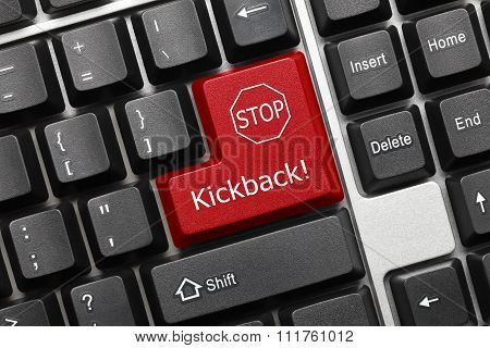 Conceptual Keyboard - Kickback (red Key)