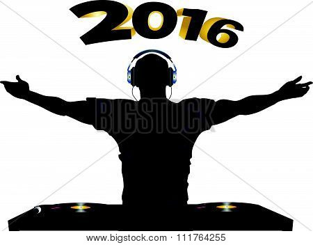 Dj And Record Decks Party 2016