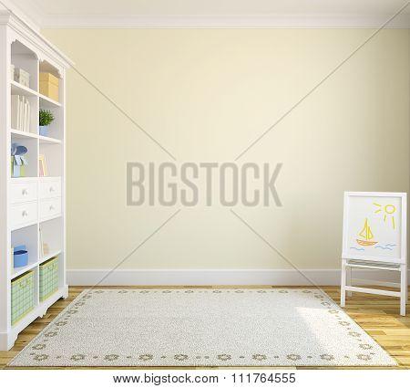 Interior Of Playroom. 3d rendering.