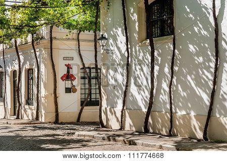 Exterior of Tio Pepe buildings
