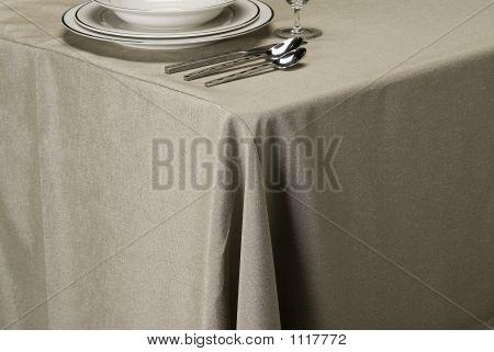 Silver Linen Table Cloth
