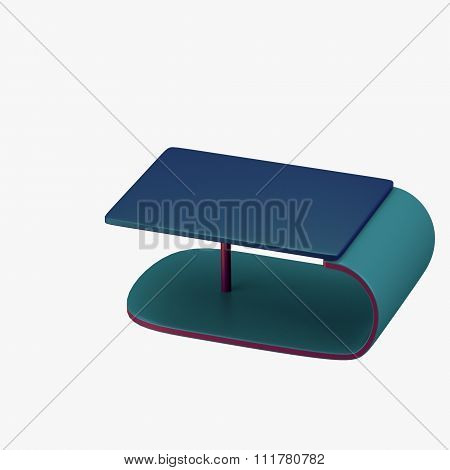 Modern C-shaped Table With Stand