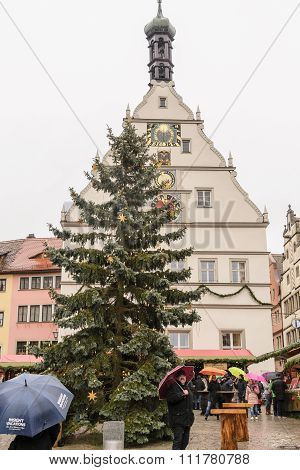 Christmas Tree in Rothenburg